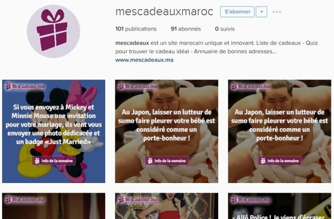 Instagram Mescadeaux.ma