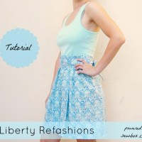 Liberty Refashions: Tank Top to Summer Dress