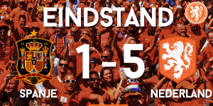 Spanje Nederland 1 - 5