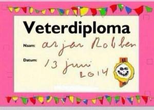 Veterdiploma Arjen Robben 130614