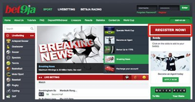 How To Register With Bet9ja - Nigerian's No 1 Betting Website Directory