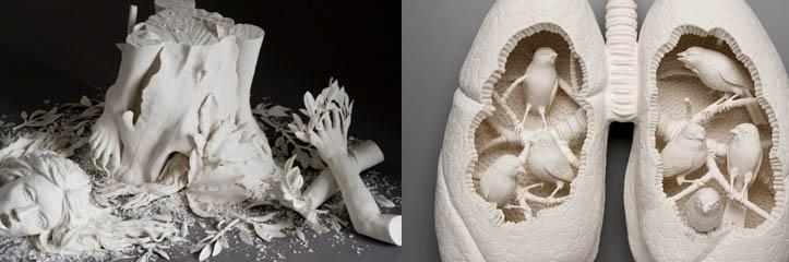 Kate McDowellによる印象的な陶器の彫刻