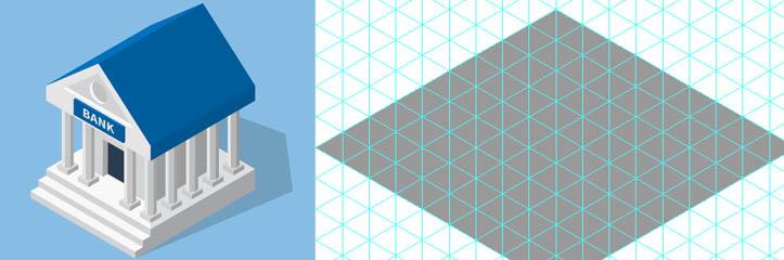 トレンドです!アイソメトリック(等角投影図法)のベクターアイコンを作成します