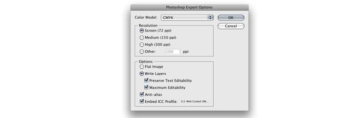 シンプルなハウツー:イラストレーターからPSDファイルのエクスポート