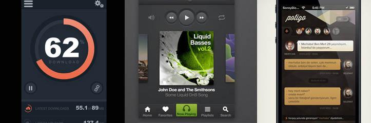 36のiPhoneアプリケーションUIデザインのPhotoshopチュートリアル