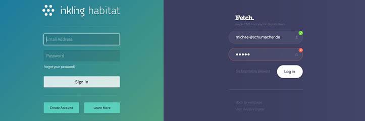 30の魅力的なWeb UIフォームデザイン