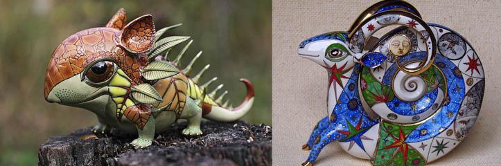 これらの2人の芸術家は驚くべきミニチュアのおとぎ話のような磁器の生物を作ります