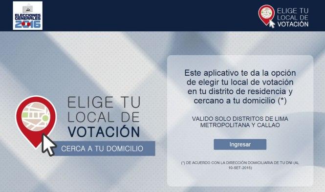 elegir donde votar en las elecciones