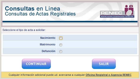 reniec-consulta-actas-registrales-nacimiento-matrimonio-defuncion