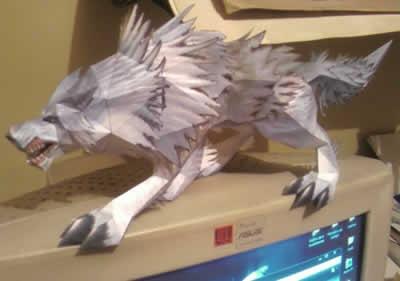 wow-papercraft-wolf