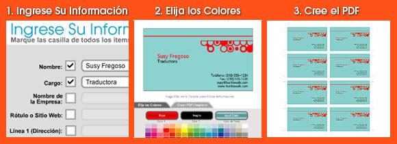 hacer tarjetas de presentacion Crea tus tarjetas de presentación en línea gratis