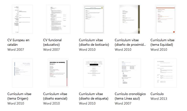 curriculum word Plantillas de curriculum en Word, descárgalas y crea tu currículum