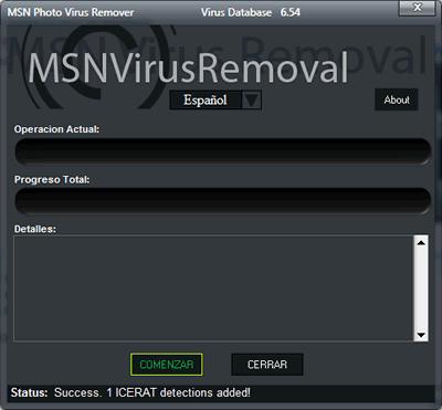 Eliminar virus msn, con MSN Photo Virus Remover