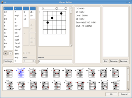 Editor de tablaturas de guitarra TuxGuitar