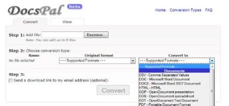 Docspal un conversor de archivos online