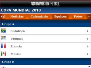 Mundial de futbol 2010 en blackberry