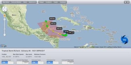 Información de huracanes y tormentas online