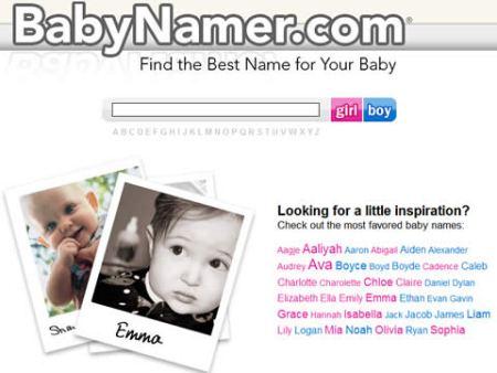 Nombres para bebes en BabyNamer