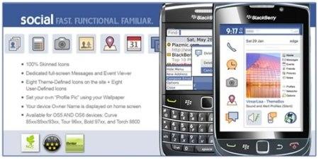 Temas blackberry gratis, Facebook