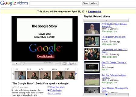 Google Video Google decide ponerle fin a Google video