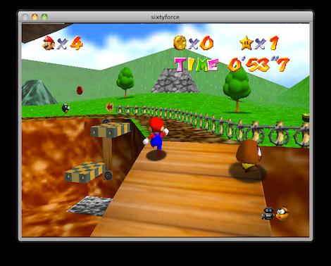Captura de pantalla 2011 05 22 a las 00.07.42 Sixtyforce, emulador de N64 para Mac