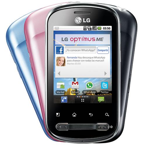 LG ME P350 LG Optimus ME P350 con Android 2.2