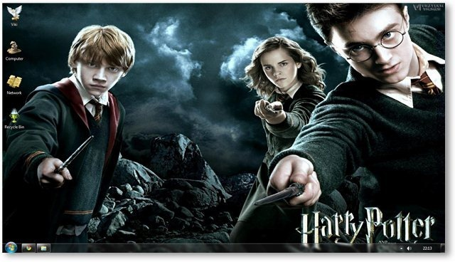 Temas Windows 7, Harry Potter