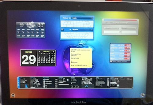 la foto Como cambiar el fondo del Dashboard en Mac OS X Lion