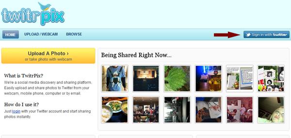 twitrpx 1 Como twittear fotos desde tu webcam