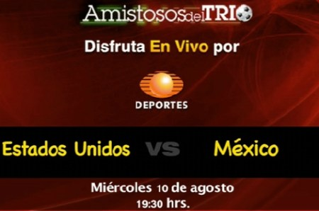 México vs Estados Unidos en vivo, amistoso 2011