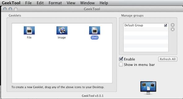 Geektool options Cómo utilizar GeekTool: Poner el día (nombre y número) y mes en el escritorio (MAC)