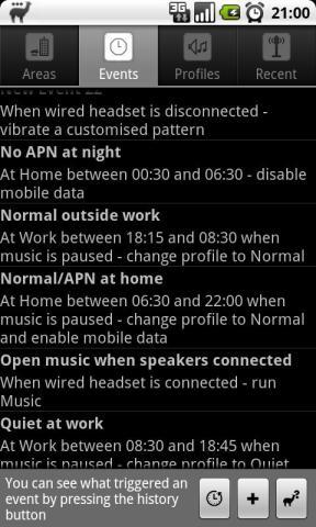 llama2 Perfiles del teléfono basados en la ubicación para Android