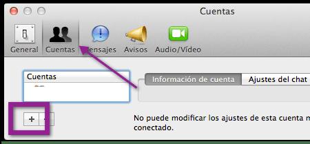 agregar cuenta ichat Agrega tu cuenta de Messenger a iChat de una manera mas sencilla en Mac OS X Lion