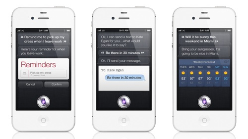 apple iphone 4s siri Primer comercial del iPhone 4S, enfocado en Siri