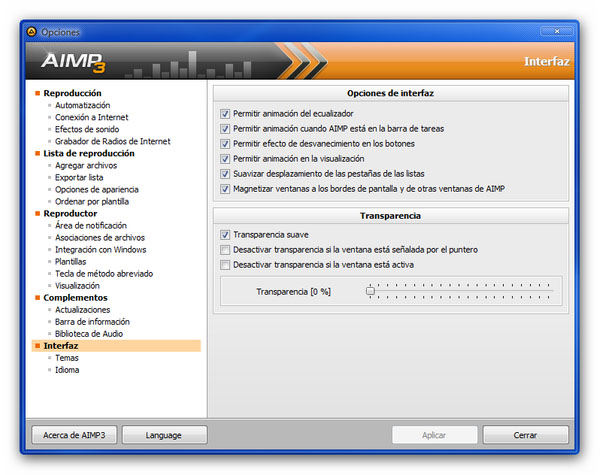 AIMP 3 personalizable AIMP 3, el sucesor definitivo de Winamp