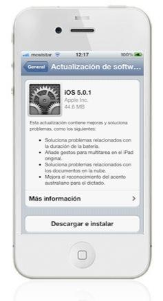 iphone 4 blanco Como actualizar iOS 5 desde tu iPhone, iPod Touch o iPad