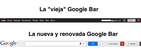 new google bar Google presenta su nueva Google Bar