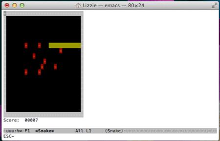 """Como jugar el clásico juego de """"Snake"""" en la terminal de Mac OS X"""