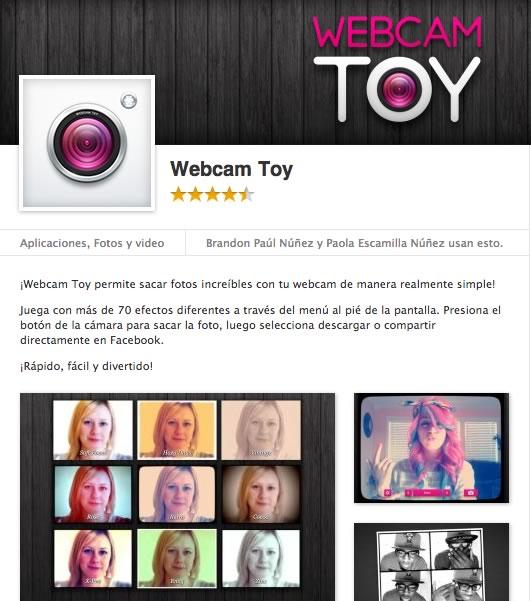 webcam toy facebook Webcam Toy, toma fotos y añade efectos desde tu Chrome