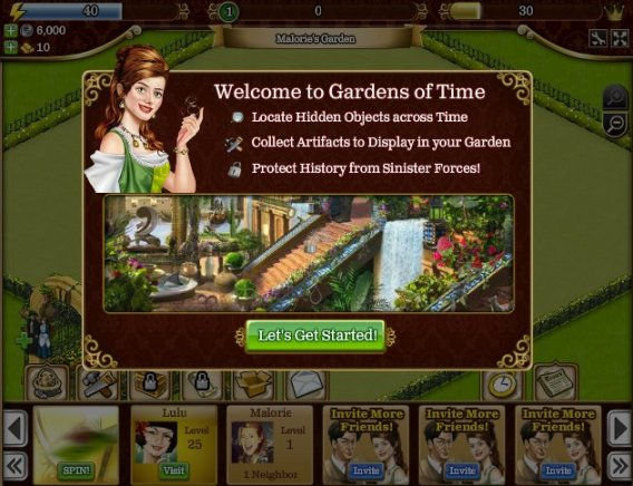 Gardens of Time Top 10 de juegos en Facebook del 2011