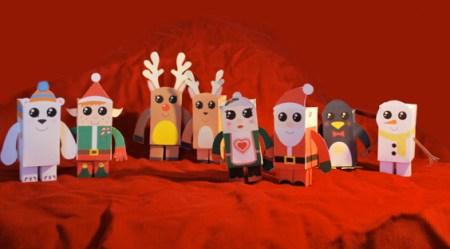 Colección con los mejores Paper Toys para Navidad