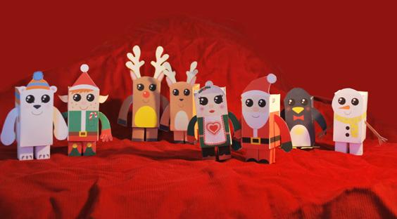paper toys navidad Colección con los mejores Paper Toys para Navidad