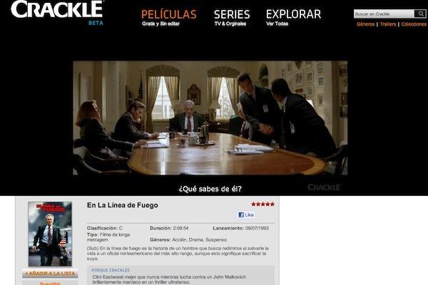 Crackle ver peliculas online Ver películas y series de TV online gratis con Crackle