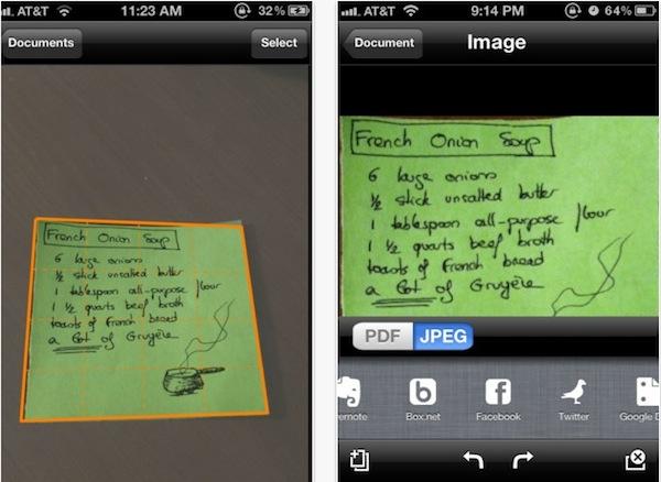 Genius Scan iPhone Escanear una hoja desde tu iPhone con Genius Scan
