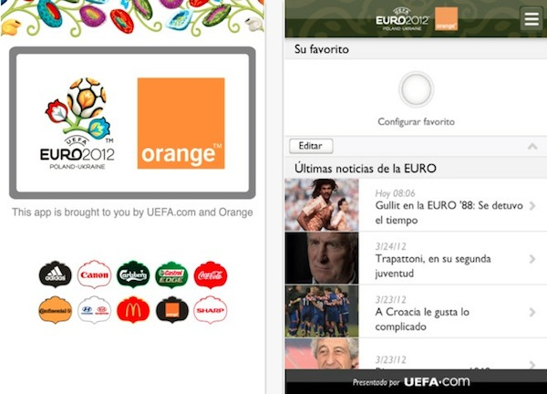 uefa euro 2012 app Sigue la Eurocopa 2012 desde tu smartphone