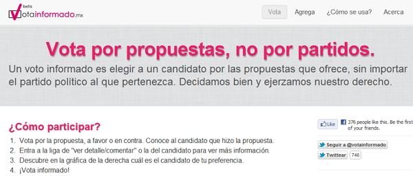 votainformado Tres sitios para ayudarte a elegir a tu candidato favorito para la Presidencia de México