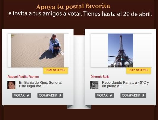 votar postales mi mundo Vota por la mejor Postal de mi mundo de American Express