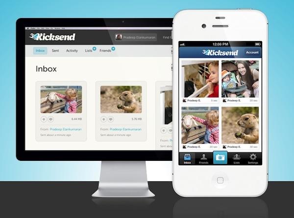 Kicksend app Kicksend, un servicio para compartir lotes de fotos, videos y documentos desde tu celular