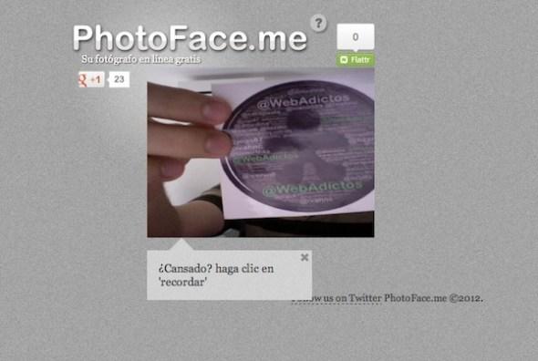 tomar fotos rapidasc webcam photoface me 590x396 Tomar fotos desde tu Webcam (apps)