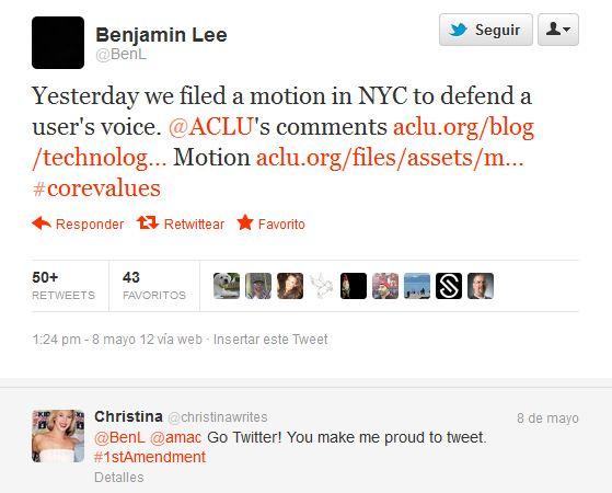 twitter legal Piden a Twitter nombres y datos de participantes en Occupy Wall Street